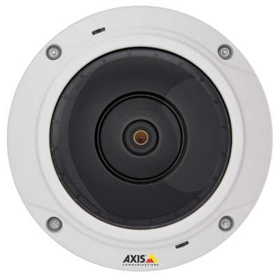 Axis M3037-PVE outdoor vandal-resistant IP camera with 5 MP resolution, panoramic views, built-in microphone and speaker