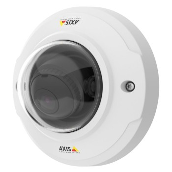 Axis M3046-V indoor vandal-resistant 4MP mini-dome, 128° field of view, HDMI output, multi-view streaming and PoE