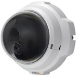 Axis M3203 indoor, compact, fixed dome IP security camera with anti-tamper casing and alarm, H.264, PoE