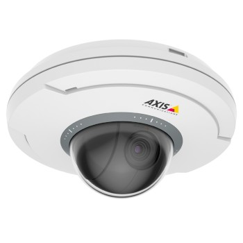 Axis M5065 indoor mini PTZ IP camera with HD 1080p, wireless I/O, built-in microphone, Zipstream, edge storage and PoE