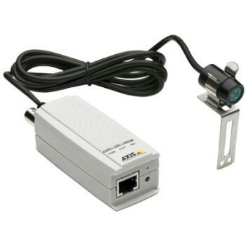 Axis M7001 mini surveillance kit, including a video encoder and an outdoor IP66-rated mini bullet camera
