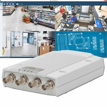 Axis M7014 Surveillance Kit - Axis M7014 video encoder and Axis Camera Station software with a 4-channel license