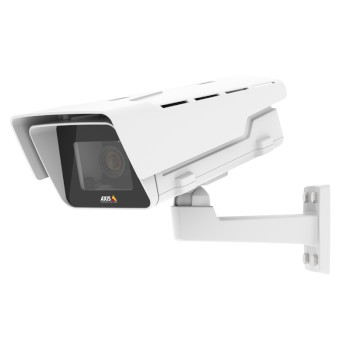 Axis P1367-E outdoor CS-mount IP camera with 5MP resolution, Lightfinder, Forensic WDR, two-way audio, edge storage and PoE