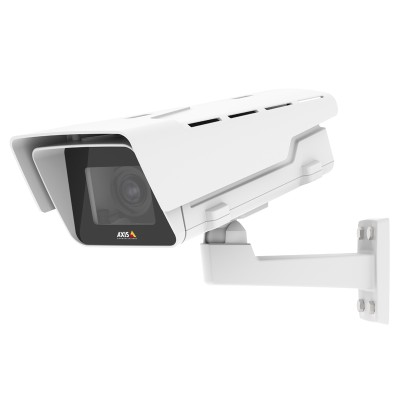 Axis P1368-E outdoor 4K IP camera with i-CS mount lens, Lightfinder, Forensic WDR, two-way audio, edge storage and PoE