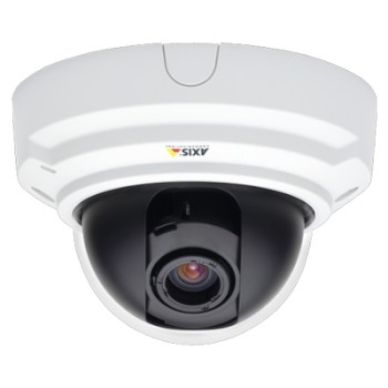 Axis P3343-V indoor, fixed dome IP camera with vandal-resistant casing, day/night function and PoE