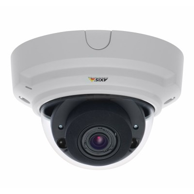 Axis P3364-LV indoor vandal-resistant fixed-dome IP camera with 25m night vision, Lightfinder technology, edge recording