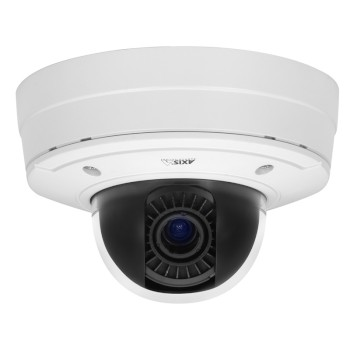Axis P3384-VE outdoor vandal-resistant dome IP camera with Wide Dynamic Range, Lightfinder and HD 720p resolution