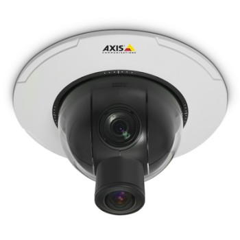 Axis P5544 indoor HD 720p pan-tilt-zoom dome IP camera with 360° panoramic view, 18x optical zoom, HPoE