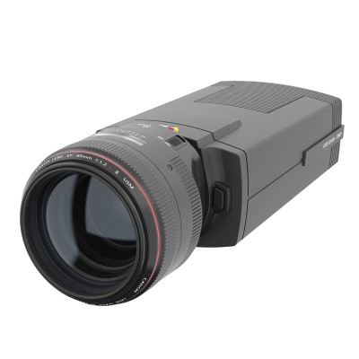 Axis Q1659 indoor IP camera with 20MP resolution, Zipstream, SFP slot, PoE and a choice of Canon EF/EF-S lenses
