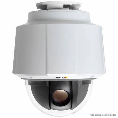 Axis Q6042 indoor high speed PTZ dome IP camera with extended D1 resolution, 360° panning and 36x optical zoom