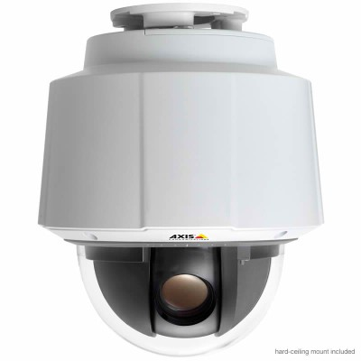 Axis Q6045 Mark II indoor 360° PTZ dome IP camera with HD 1080p, 32x optical zoom and intelligent video analytics