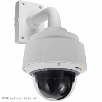 Axis Q6045-E vandal-resistant outdoor PTZ dome IP camera with HD 1080p, 360° panning, 20x optical zoom and PoE+