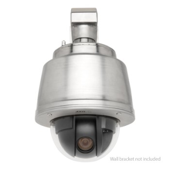 Axis Q6045-S Mark II pressurised stainless steel 360° PTZ dome IP camera with 32x optical zoom and HD 720p (60 fps)