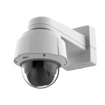 Axis Q6054 Mk II indoor PTZ dome IP camera with HD 720p resolution, 360° pan, 30x optical zoom, Lightfinder and Zipstream