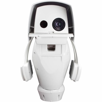 Axis Q8721-E IP unit with PTZ, a HD 720p visual camera and a 384x288 thermal imaging camera, dual streaming