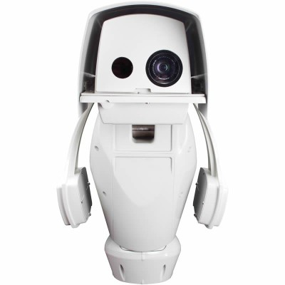 Axis Q8722-E IP unit with PTZ, a HD 720p visual camera and 640x480 thermal imaging camera, dual streaming
