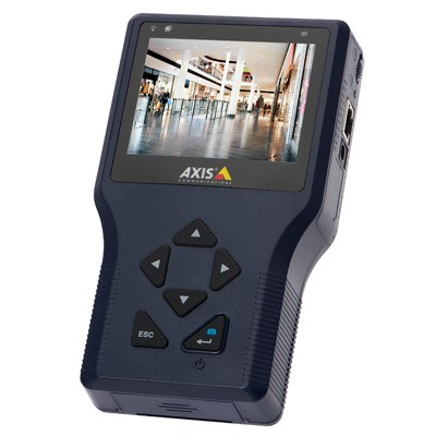 Axis T8414 handheld installation display, battery-powered to simplify IP camera installation
