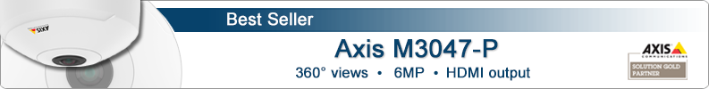 Axis M3007-PV indoor 360° hemispheric IP camera