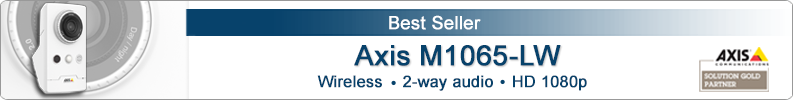 Axis M1065-LW indoor wireless IP camera with HD 1080p resolution
