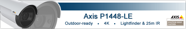 Axis P1428-LE 4K ultra HD resolution outdoor bullet IP camera