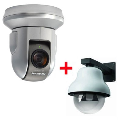 Panasonic BB-HCM580 outdoor bundle, pan/tilt/zoom IP camera with 21x optical zoom, on-board SD recording