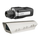 Bosch DINION IP 4000 HD outdoor PoE bundle, HD 720p box IP camera with wide angle views and edge recording