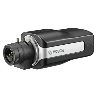 Bosch DINION IP 5000 indoor box IP camera with lens included, up to 5MP resolution, two-way audio, edge recording and PoE