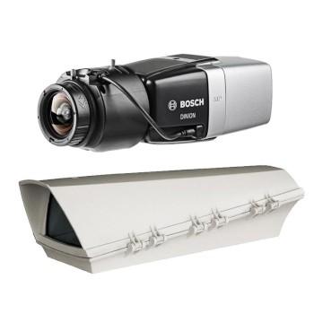 Bosch DINION IP Starlight 8000 MP outdoor PoE bundle, 5MP box IP camera with Intelligent Video Analytics and edge recording