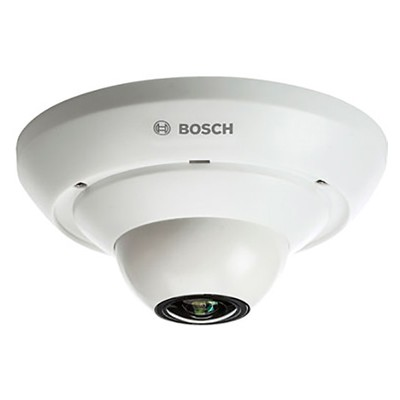 Bosch FLEXIDOME IP panoramic 5000 MP indoor IP camera with 360° view, 3MP resolution, one-way audio, edge recording and PoE