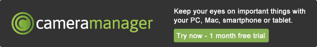 Cameramanager banner - cloud-based video surveillance, free trial