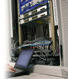 Network switches and patch panels