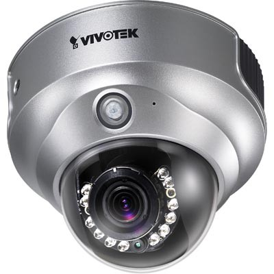 Vivotek FD8161 indoor 2MP fixed-dome security camera with 15m infrared LEDs, PIR sensor, 2-way audio and SD card recording
