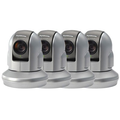 Panasonic BB-HCM581 Indoor IP security camera with pan-tilt-zoom and PoE support - 4 pack