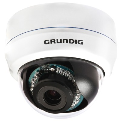 Grundig GCI-K1526V HD 2MP outdoor dome IP camera, day/night with up to 25m IR light, two-way audio and SD recording