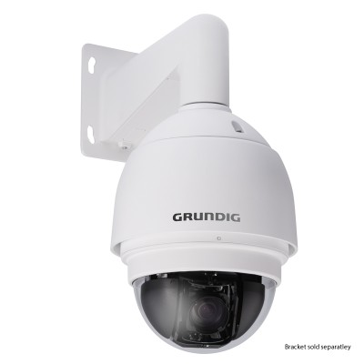 Grundig GCI-K1779P vandal-resistant 2MP/HD 1080p outdoor PTZ dome IP camera with18x optical zoom and two-way audio