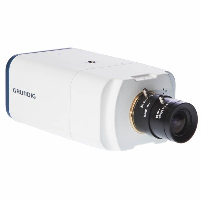 Grundig GCI-K2505B 2MP indoor box IP camera with HD 1080p, low light capability, WDR, two-way audio and SD storage