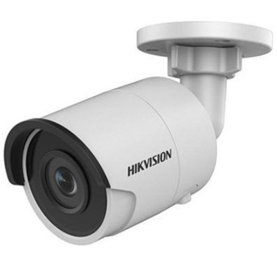 Hikvision DS-2CD2045FWD-I-2.8mm outdoor-ready mini-bullet IP camera with 4MP resolution, up to 30m IR, edge storage and PoE