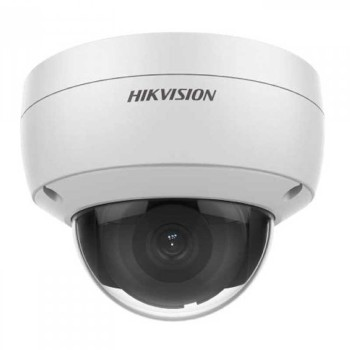 Hikvision DS-2CD2143G0-IU-2.8mm outdoor dome IP camera with 4MP resolution, up to 30m IR, built-in microphone and PoE