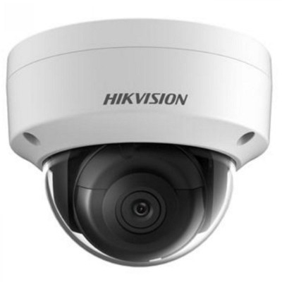 Hikvision DS-2CD2145FWD-IS outdoor-ready dome IP camera with 4MP resolution, up to 30m IR, edge storage & PoE