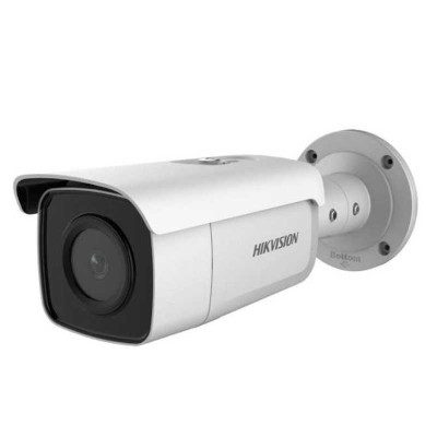 Hikvision DS-2CD2T65G1-I8 outdoor fixed bullet IP camera with 6MP resolution, up to 80m IR, WDR technology & PoE