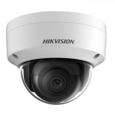 Hikvision DS-2CD2145FWD-I outdoor-ready dome IP camera with 4MP resolution, up to 30m IR, edge storage and PoE