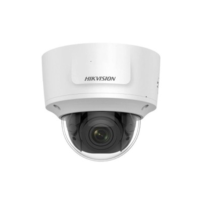 Hikvision DS-2CD2743G0-IZS outdoor vandal-resistant dome IP camera with 4MP resolution, up to 30m IR, edge storage and PoE