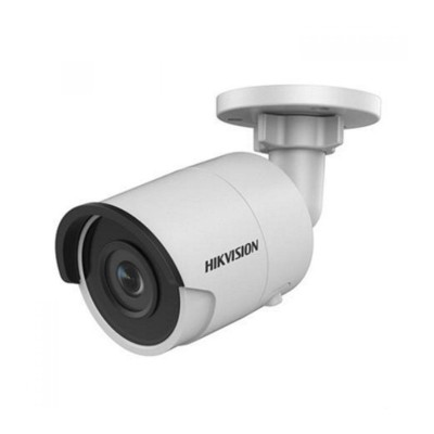 Hikvision DS-2CD2055FWD-I outdoor mini-bullet with 5MP resolution, up to 30m IR night vision, edge storage and PoE