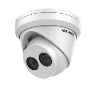 Hikvision DS-2CD2385FWD-I outdoor dome IP camera with 8MP resolution, up to 30m IR night vision, edge storage and PoE