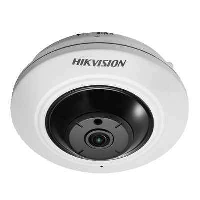 Hikvision DS-2CD2942F-IS indoor mini fisheye IP camera with 4MP resolution, up to 8m IR, audio support and on-board storage