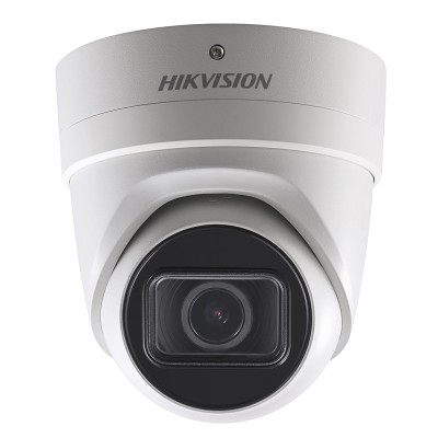 Hikvision DS-2CD2H45FWD-IZS outdoor vandal-resistant IP camera with 4MP resolution, up to 30m IR, varifocal lens and PoE