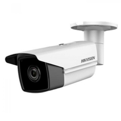 Hikvision DS-2CD2T55FWD-I8 outdoor-ready IP camera with 5 megapixel resolution, up to 80m IR, edge storage and PoE