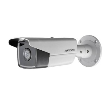 Hikvision DS-2CD2T85FWD-I5 outdoor-ready IP camera with 8 megapixel resolution, up to 50m IR, PoE and edge storage