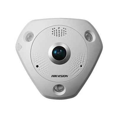 Hikvision DS-2CD6332FWD-I indoor fisheye IP camera with 3MP resolution, up to 15m IR, 360° view, edge storage and PoE