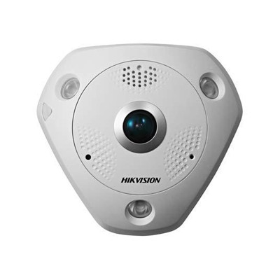 Hikvision DS-2CD6362F-I indoor fisheye IP camera with 6MP resolution, up to 15m IR, 360° view, edge storage and PoE